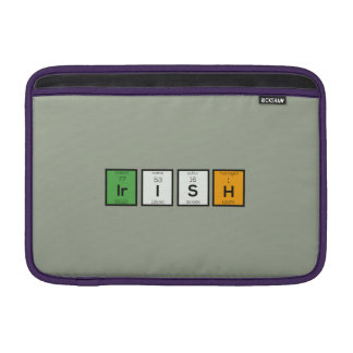Irish chemcial elements Zy4ra MacBook Sleeves