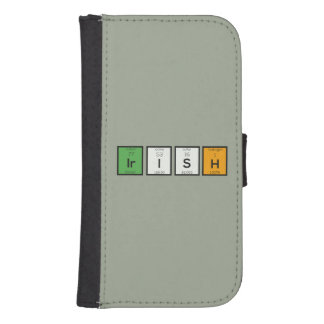 Irish chemcial elements Zy4ra Samsung S4 Wallet Case