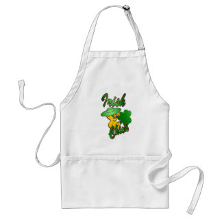 Irish Chick in Green Standard Apron