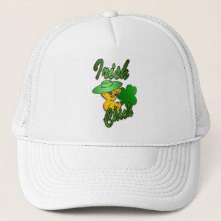 Irish Chick in Green Trucker Hat