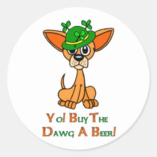 Irish Chihuahua Round Sticker
