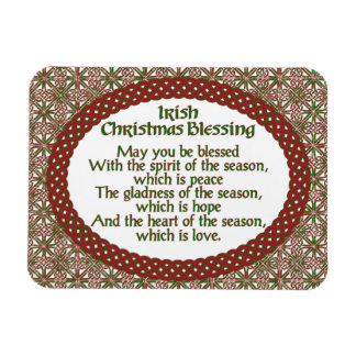 Irish Christmas Blessing, Red Green Celtic Holiday Magnet