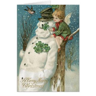 Irish Christmas Cards, Vintage Christmas Card