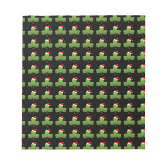 Irish Christmas Clover Pattern Notepad