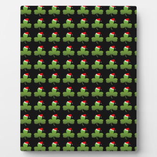 Irish Christmas Clover Pattern Photo Plaques