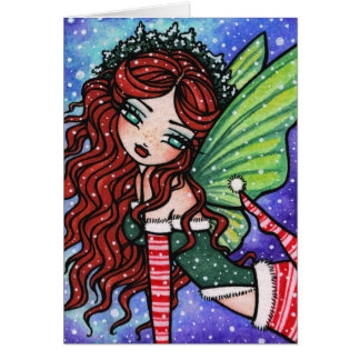 Irish Christmas Fae Fairy Snow Fantasy Card