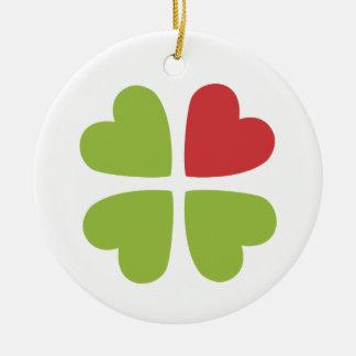 Irish Christmas Holiday Decoration Round Ceramic Decoration