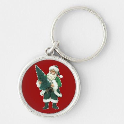 Irish Christmas Santa Claus Keychains