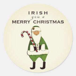 Irish Christmas wish Classic Round Sticker