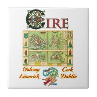 Irish Cities Tile and Trivet