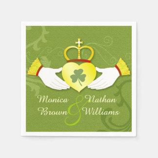 Irish Claddagh Heart Celtic Wedding Paper Napkins