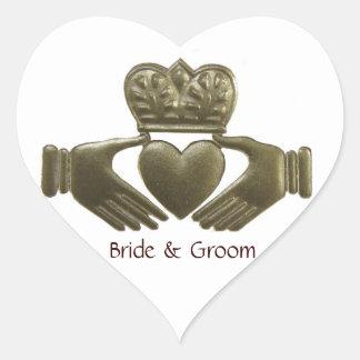 Irish Claddagh heart Gold Wedding Seals