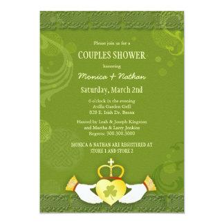 Irish Claddagh Heart Wedding Couples Shower Card