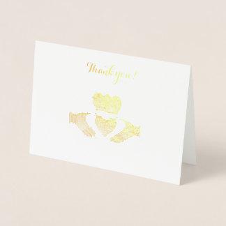 Irish Claddagh Thank you note Foil Card