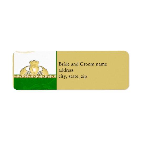 Irish Claddaugh Address Labels
