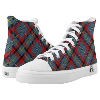 Irish Clan MacNamara McNamara Tartan Plaid High Tops