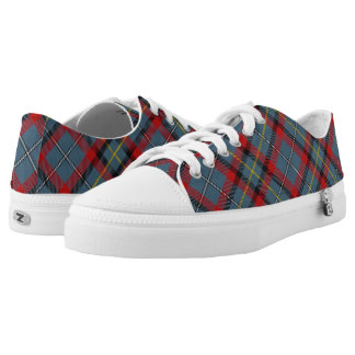 Irish Clan MacNamara McNamara Tartan Plaid Low Tops