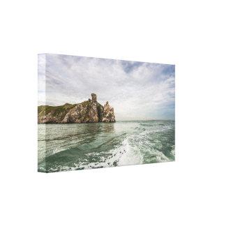 Irish cliffs under a cloudy sky canvas print