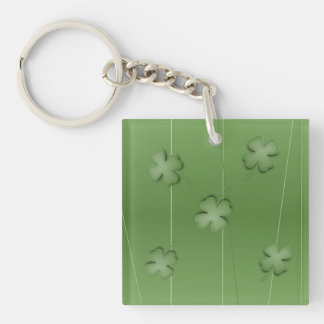Irish Clover Design Key Ring