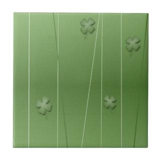 Irish Clover Design Tile