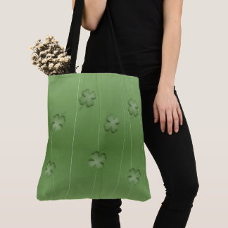 Irish Clover Design Tote Bag