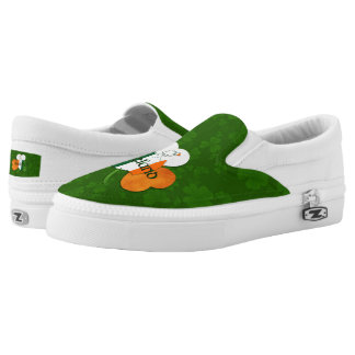 Irish Clover - Flag of Ireland Colors Printed Shoes
