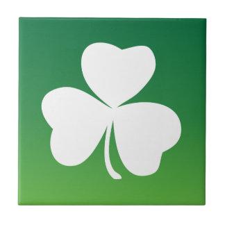 Irish clover green theme small square tile
