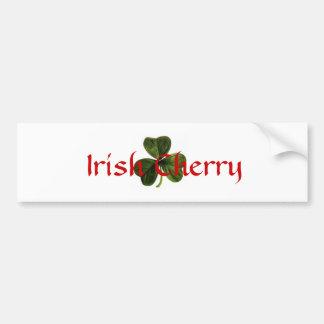 Irish_clover, Irish Cherry Bumper Sticker