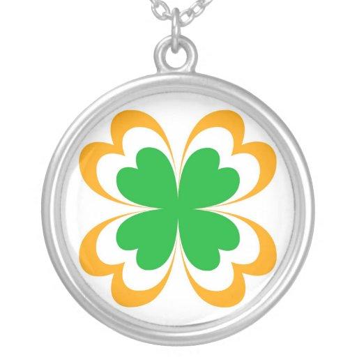 Irish clover necklaces