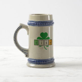 Irish cloverleaf chemical element Zz37b Beer Stein
