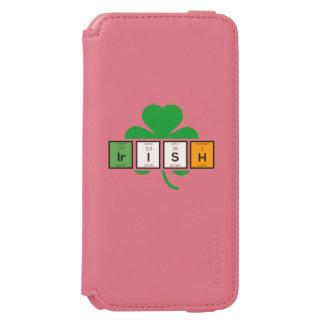 Irish cloverleaf chemical element Zz37b Incipio Watson™ iPhone 6 Wallet Case