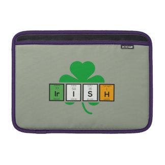 Irish cloverleaf chemical element Zz37b MacBook Air Sleeves