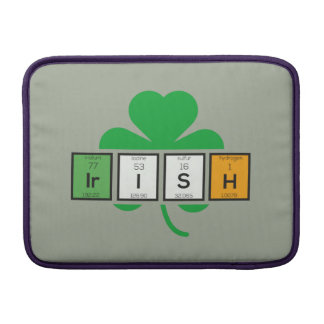 Irish cloverleaf chemical element Zz37b MacBook Air Sleeves