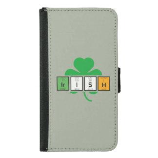 Irish cloverleaf chemical element Zz37b Samsung Galaxy S5 Wallet Case