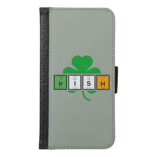 Irish cloverleaf chemical element Zz37b Samsung Galaxy S6 Wallet Case