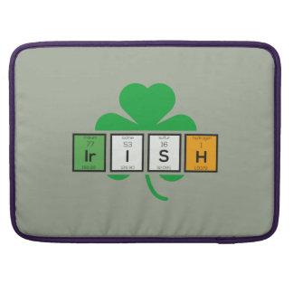 Irish cloverleaf chemical element Zz37b Sleeve For MacBook Pro
