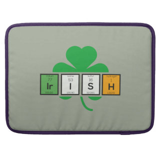 Irish cloverleaf chemical element Zz37b Sleeves For MacBooks