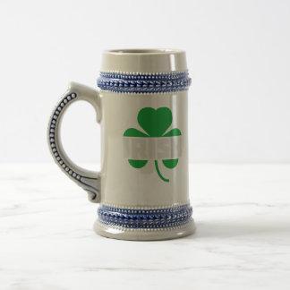 Irish cloverleaf shamrock Z2n9r Beer Stein