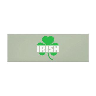 Irish cloverleaf shamrock Z2n9r Canvas Print