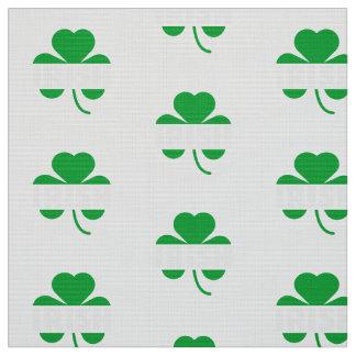 Irish cloverleaf shamrock Z2n9r Fabric