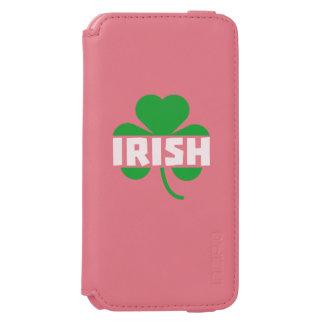Irish cloverleaf shamrock Z2n9r Incipio Watson™ iPhone 6 Wallet Case