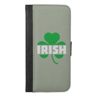 Irish cloverleaf shamrock Z2n9r iPhone 6/6s Plus Wallet Case