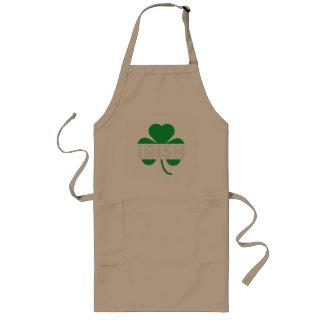 Irish cloverleaf shamrock Z2n9r Long Apron