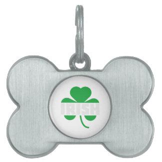 Irish cloverleaf shamrock Z2n9r Pet Name Tag