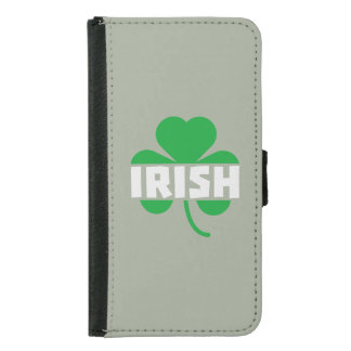 Irish cloverleaf shamrock Z2n9r Samsung Galaxy S5 Wallet Case