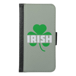 Irish cloverleaf shamrock Z2n9r Samsung Galaxy S6 Wallet Case