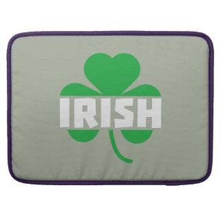 Irish cloverleaf shamrock Z2n9r Sleeve For MacBooks