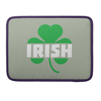 Irish cloverleaf shamrock Z2n9r Sleeves For MacBook Pro
