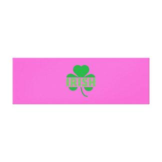 Irish cloverleaf shamrock Z9t2d Canvas Print