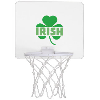 Irish cloverleaf shamrock Z9t2d Mini Basketball Hoop